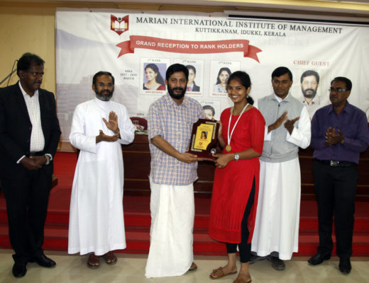 grand reception for MG University MBA rank holders