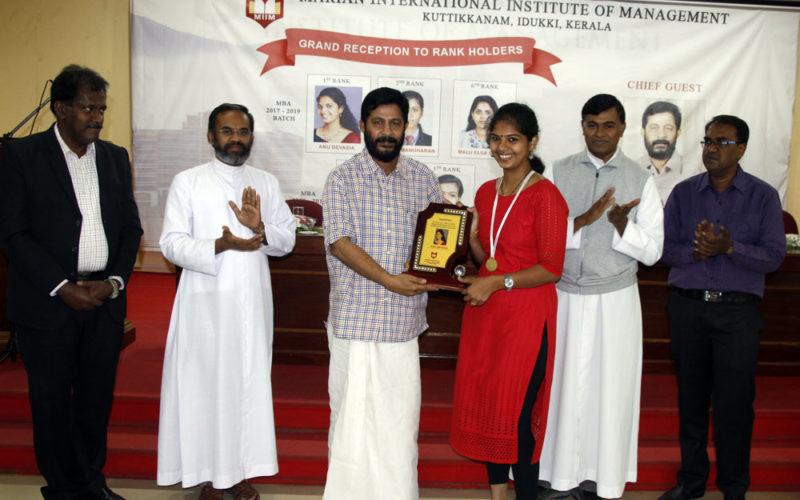 grand reception for MG University MBA rank holders