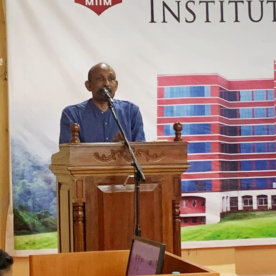 Guest talk by Dr P M Chacko, physician and psychologist