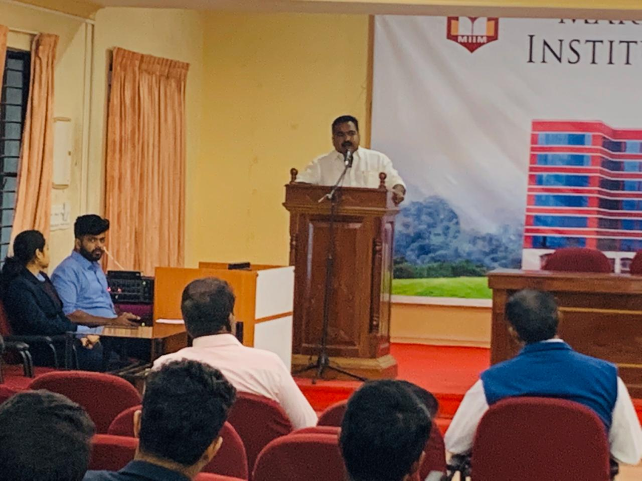 Expert talk by Mr. Stany Pothan, Spice board member