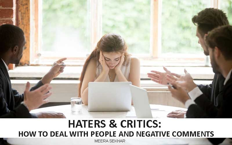 haters and critics - how to deal with people