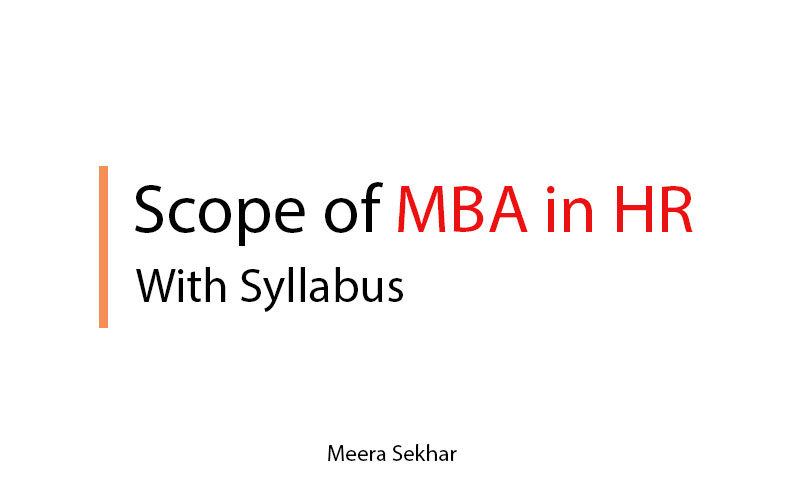 Scope of MBA in HR