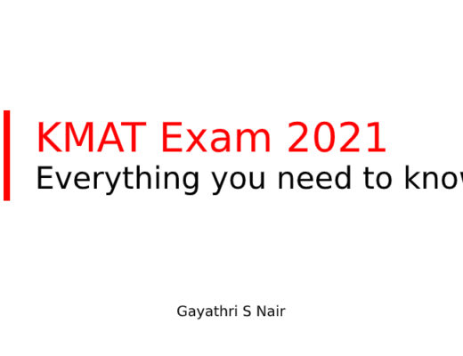 KMAT Exam 2021 - Everything you need to know