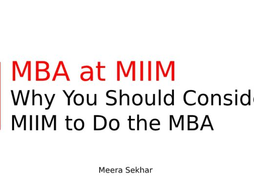 MBA at MIIM –Why you should consider MIIM to do the MBA