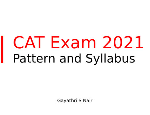 CAT Exam 2021 Pattern and Syllabus