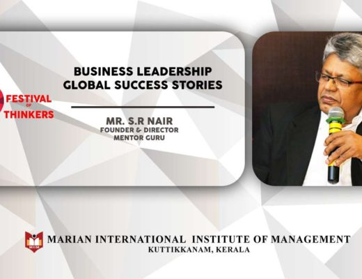 Talk by S R Nair | Business Leadership Global Success Stories | Festival of Thinkers