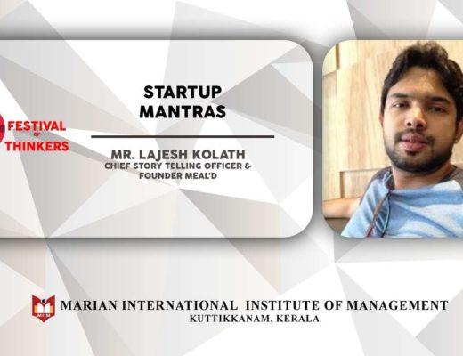 Start Up Mantras | Mr. Lajesh Kolath | Festival Of Thinkers