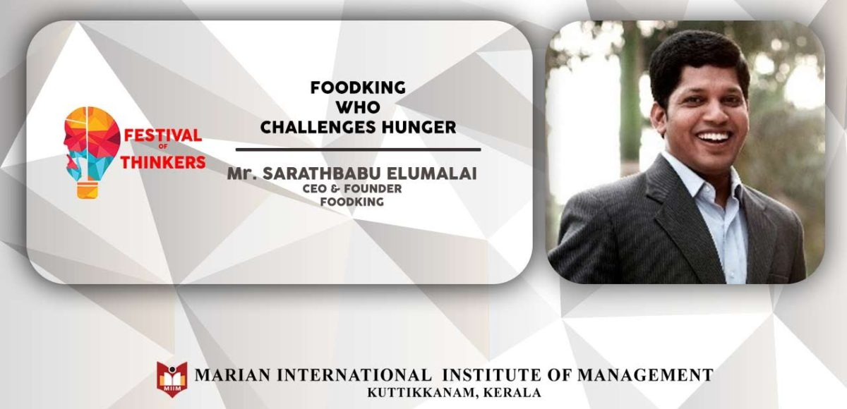 FoodKing Who Challenges Hunger | Talk by Mr. Sarathbabu Elumalai, CEO & Founder- FOODKING