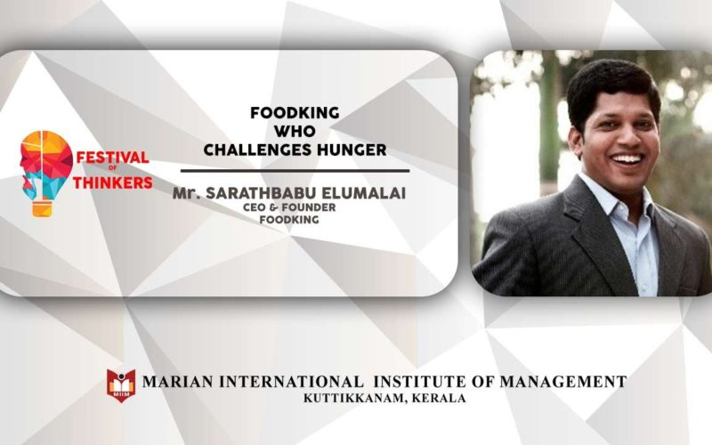 FoodKing Who Challenges Hunger   Talk by Mr. Sarathbabu Elumalai, CEO & Founder- FOODKING