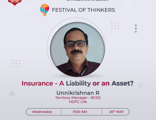 Festival of thinkers - Insurance liability or asset