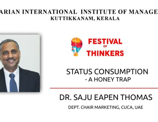 Status Consumption - A Honey Trap - Webinar - Dr. Saju Eapen Thomas