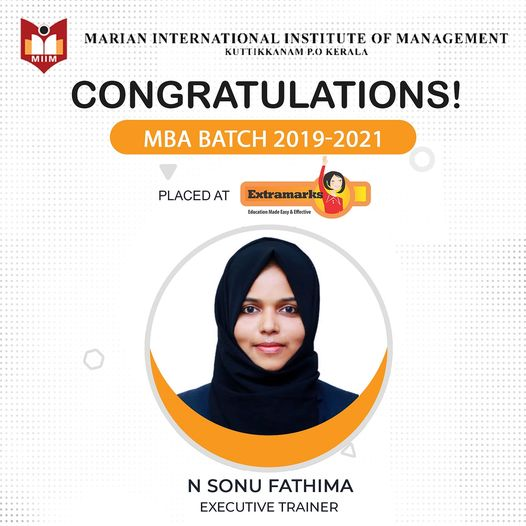 Placed at Extramarks Sonu Fathima