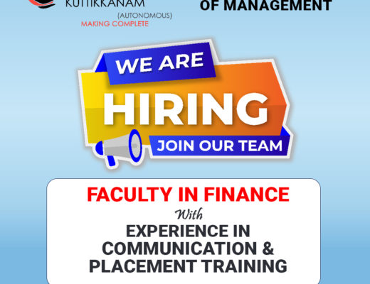 we are hiring finance faculty